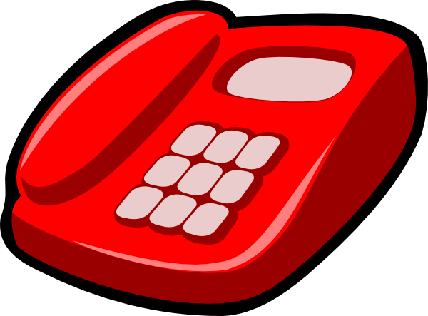 Telephone clipart clker.