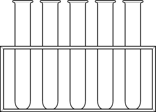 Test clipart tube rack drawing.