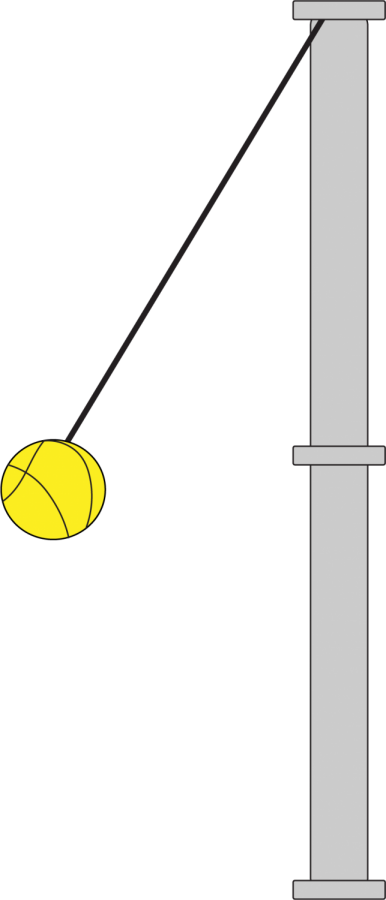 Tether clipart pole.