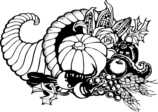 free black and white clipart thanksgiving