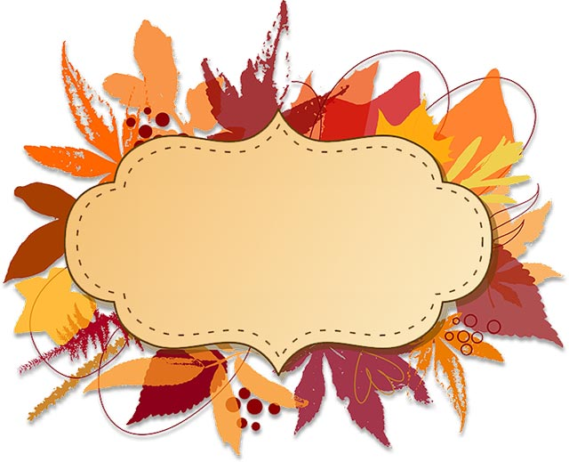 fall border clipart floral