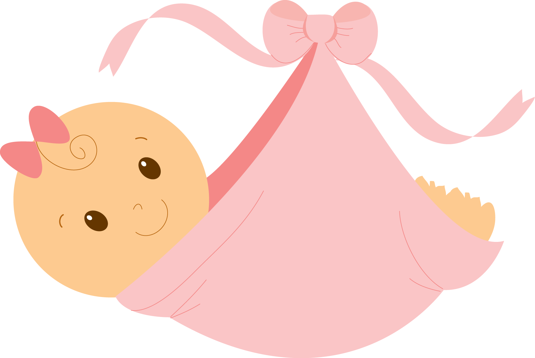 baby girl clipart sleeping