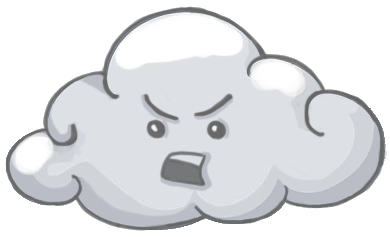 thunder clipart angry cloud