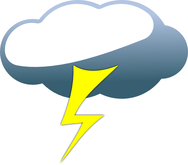 thunder clipart cartoon