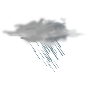 thunder clipart heavy rain