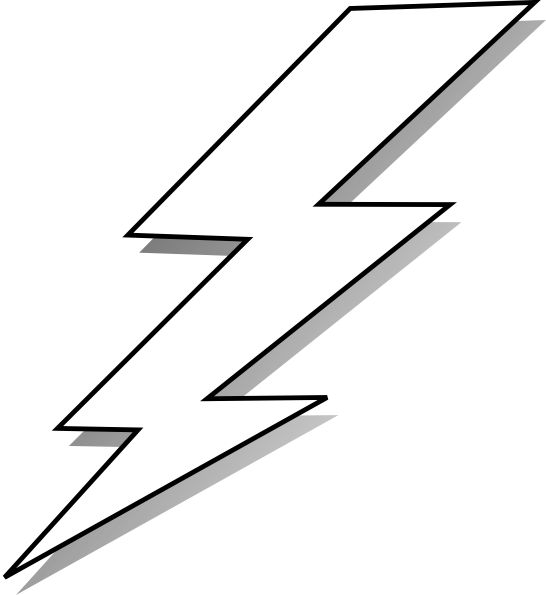 thunder clipart lightning sketch