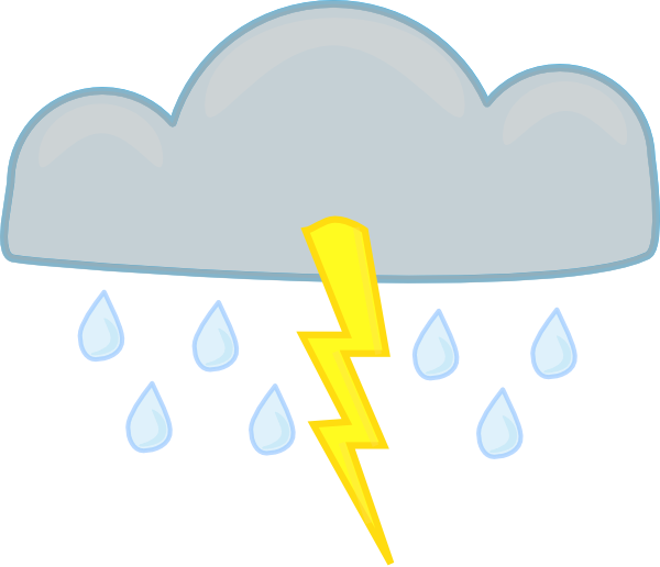 thunder clipart rainstorm