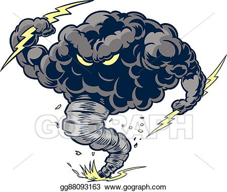 tornado clipart angry
