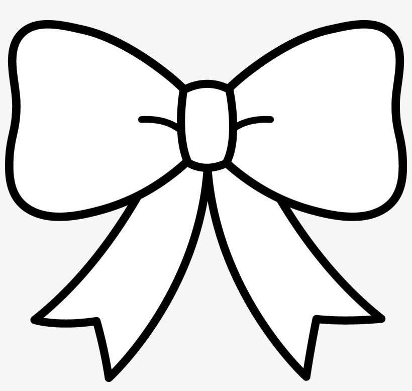 Bow clipart black and white transparent.