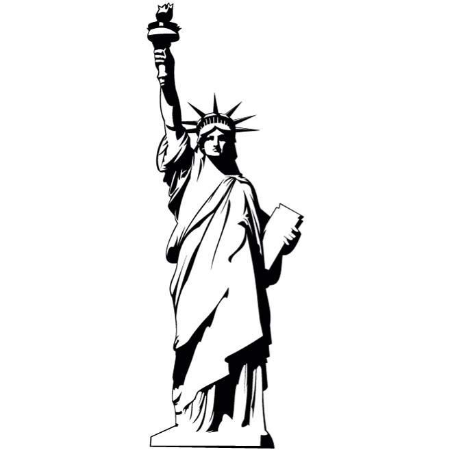 statue of liberty clipart vector