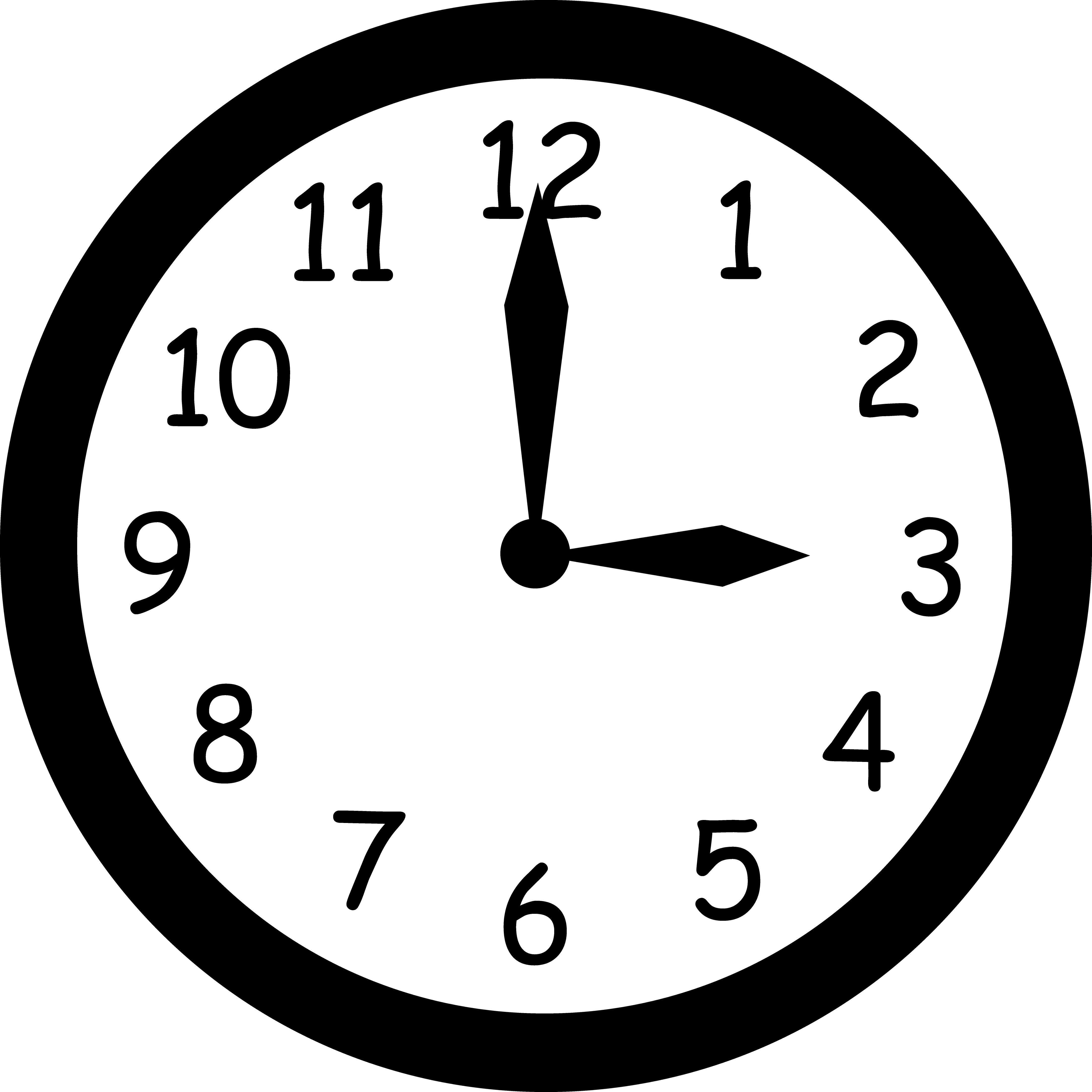 time clipart analog clock