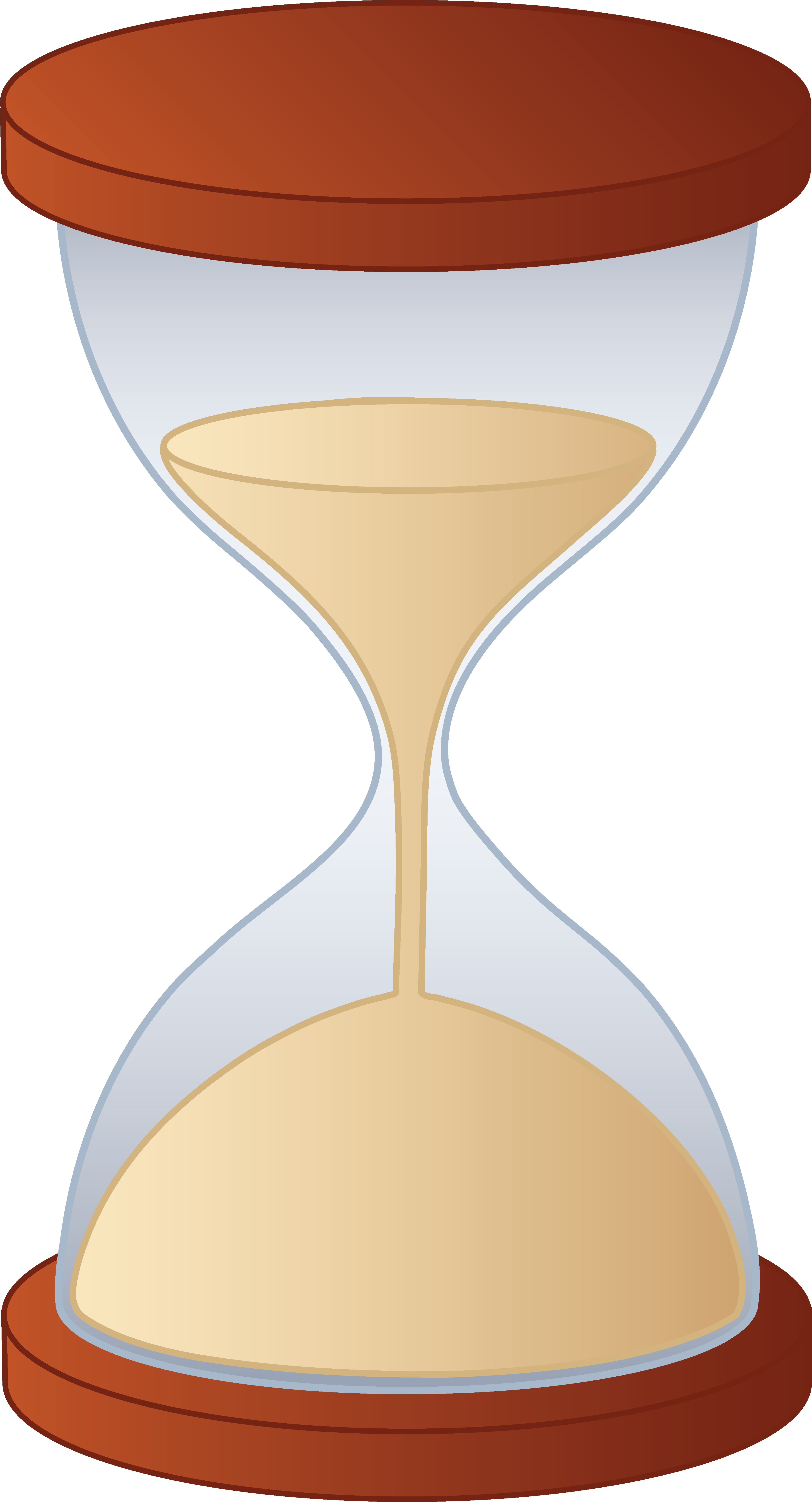 time clipart hourglass