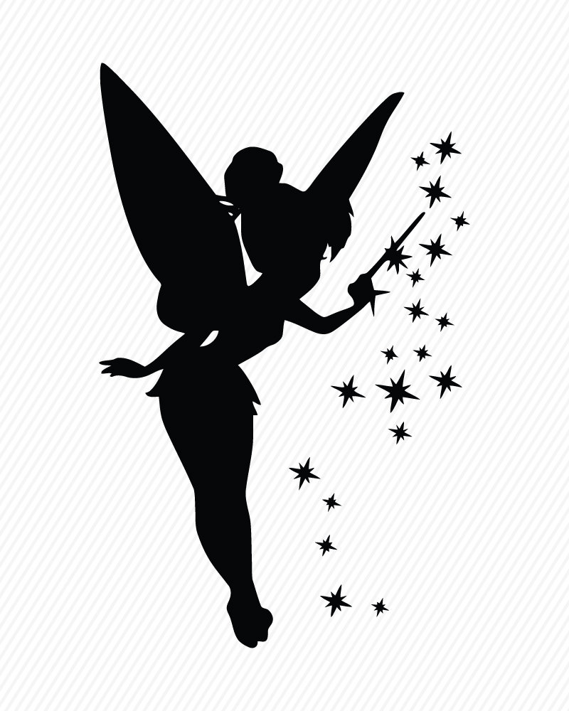 Tinkerbell clipart svg.