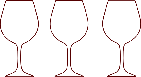 wine glass clipart outline