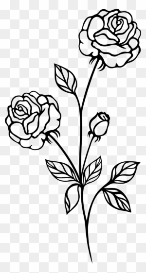 rose clipart black and white transparent