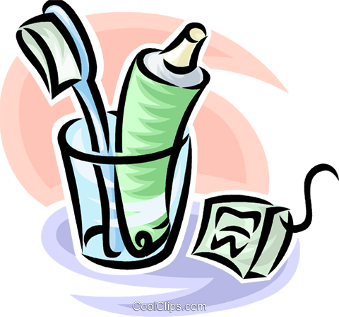 toothpaste clipart floss