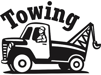 tow truck clipart drawing