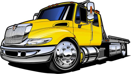 tow truck clipart flat bed
