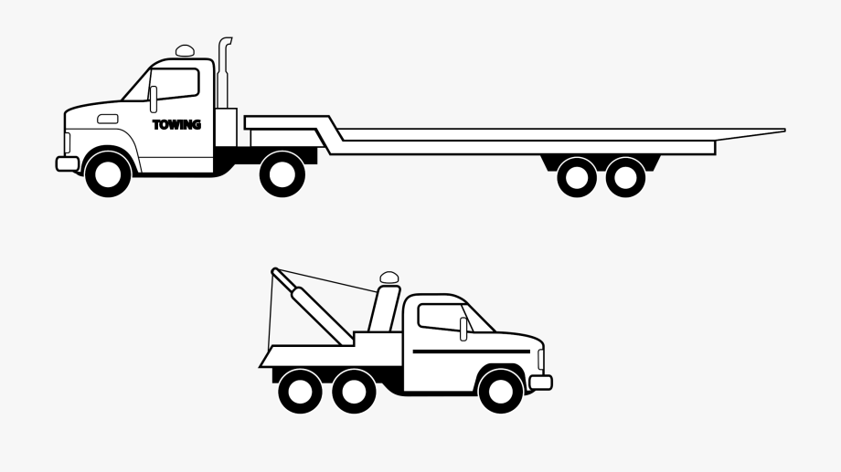semi truck clipart side view