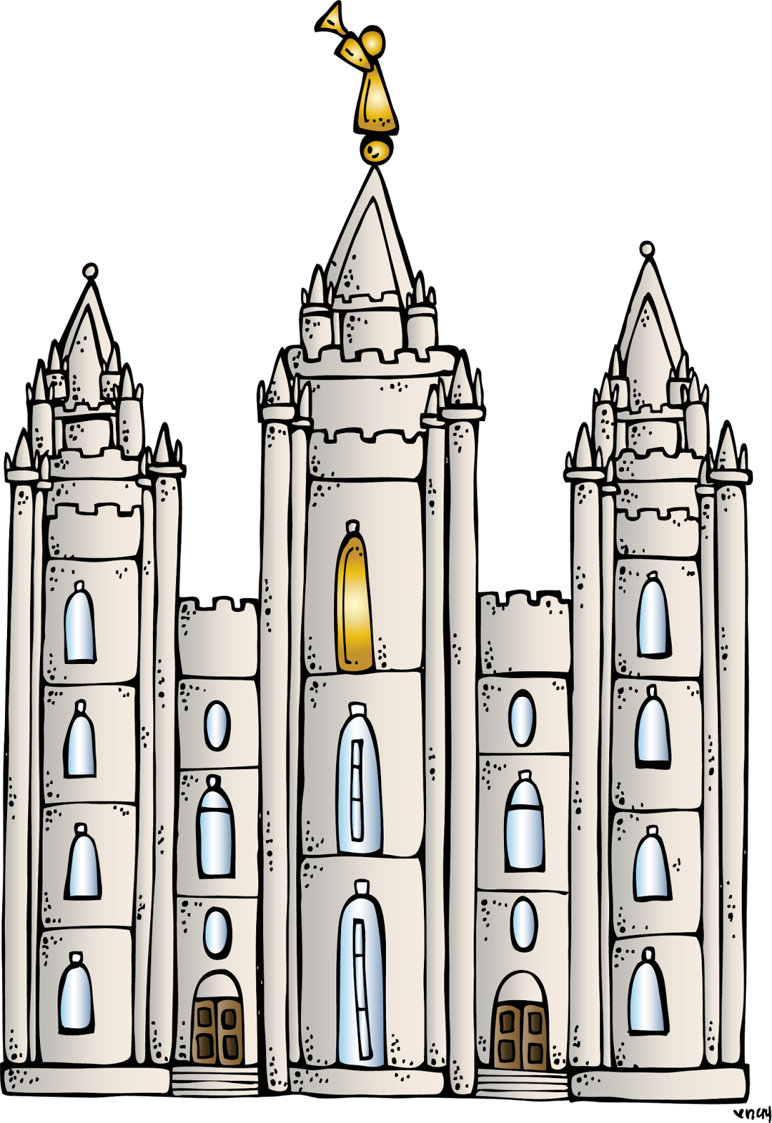 Lds temple clipart easy.