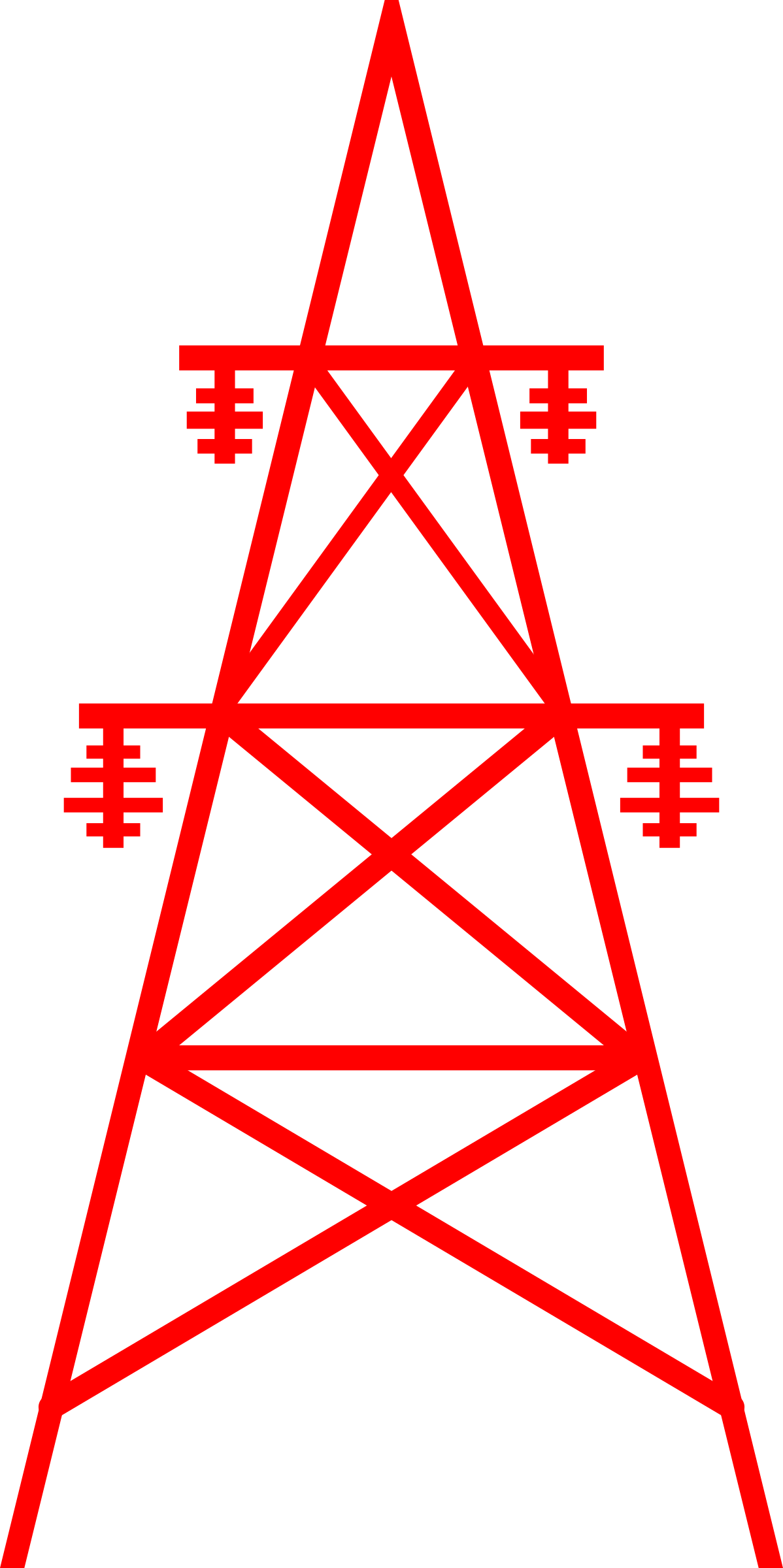 Tower clipart transmission line tower.