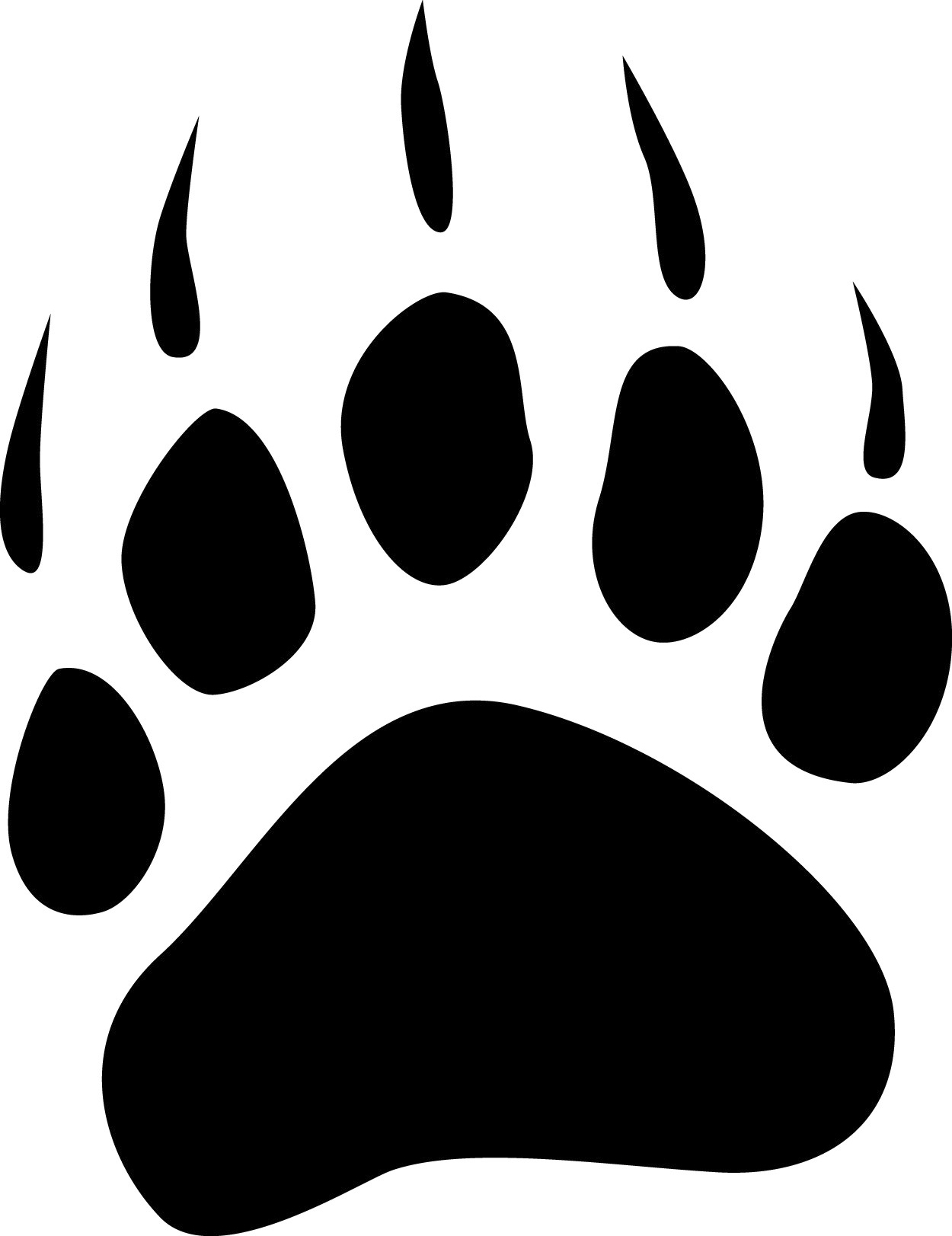 bear paw clipart tribal