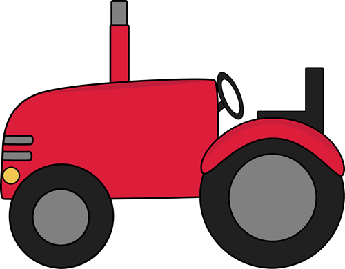 tractor clipart red
