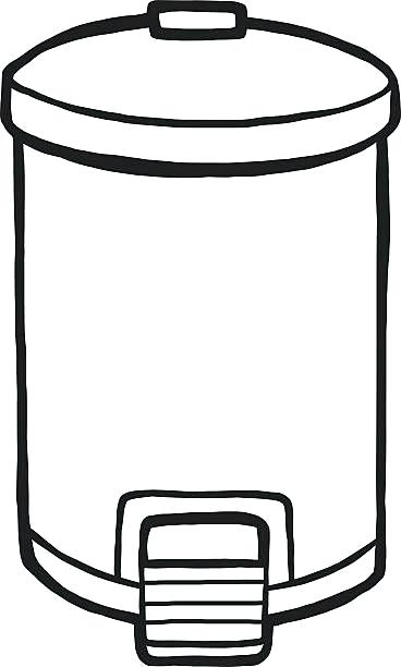 Trash can clipart white.