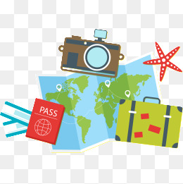 Travel clipart transparent backgrounds.