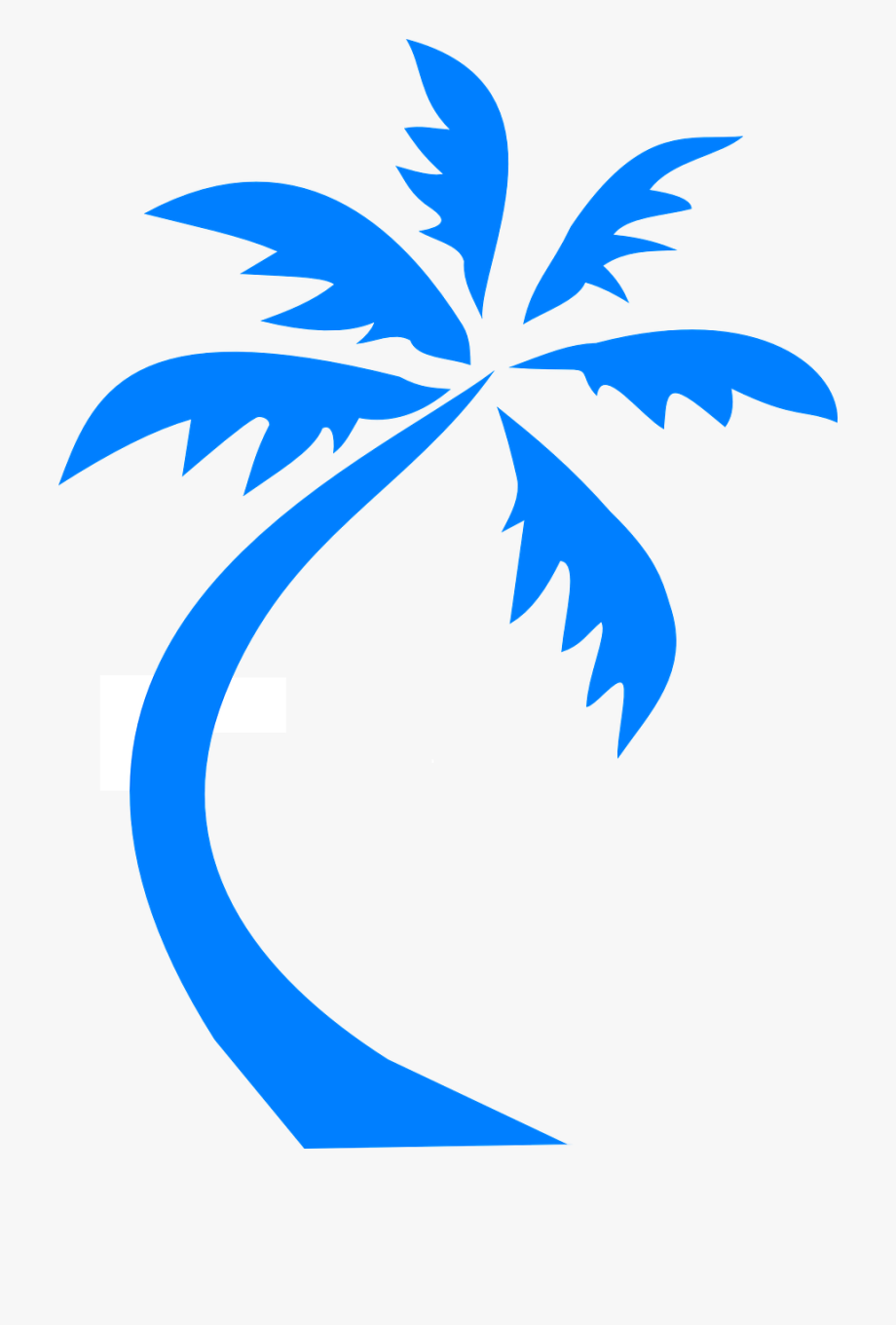 palm trees clipart blue