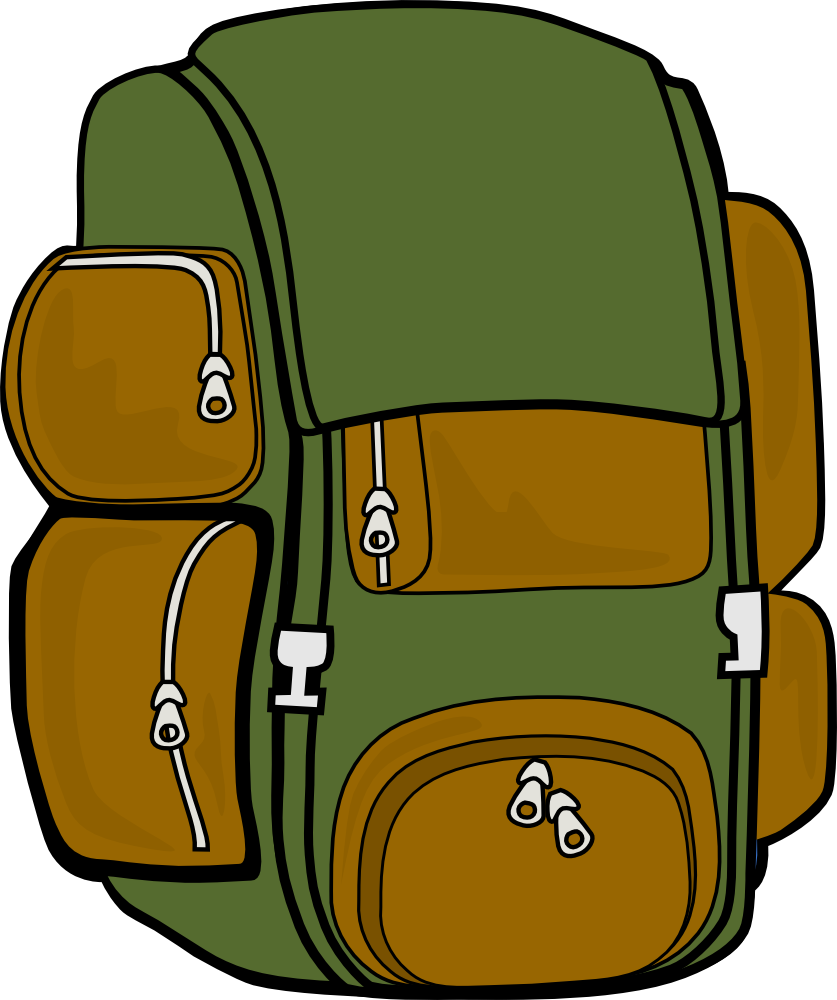 Backpack clipart hiking.