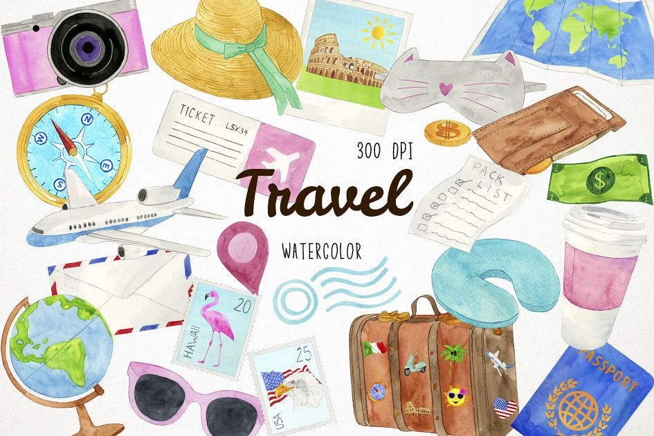 travel clipart scrapbook