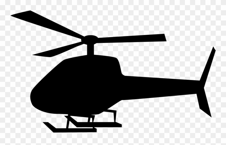 helicopter clipart black