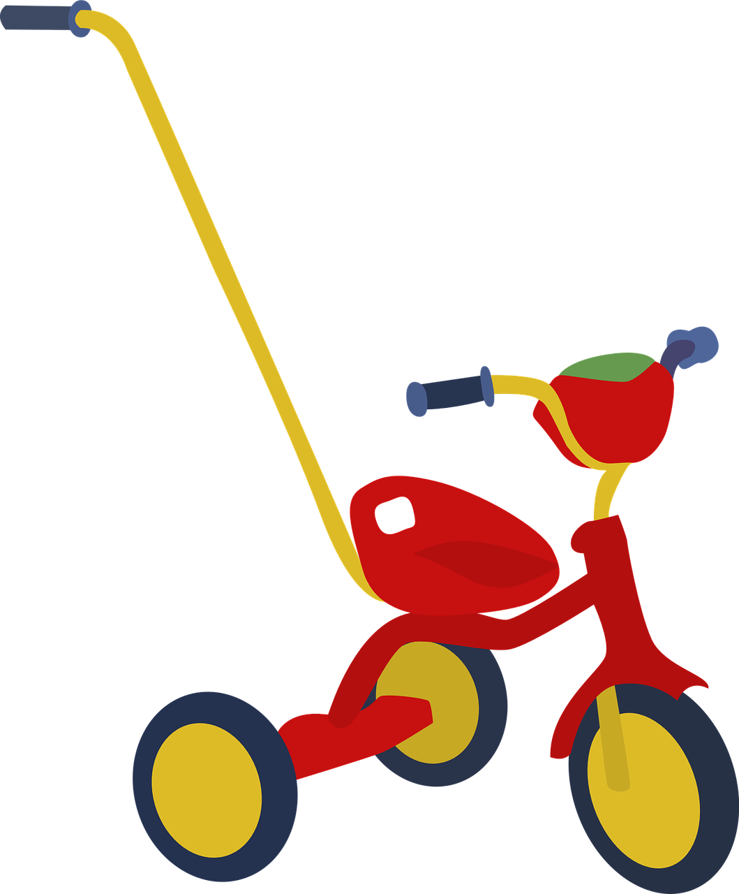 Tricycle clipart little red. To bicycle supporting your