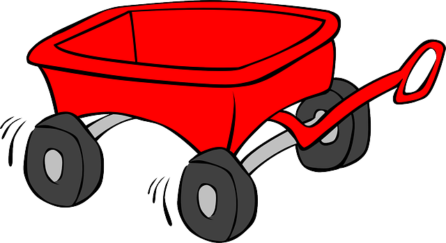 Tricycle clipart little red. Wagon cart trolley kid