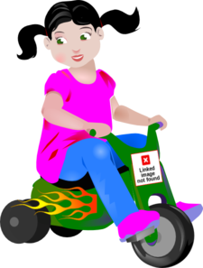 Tricycle clipart little red. Toddler biker clip art