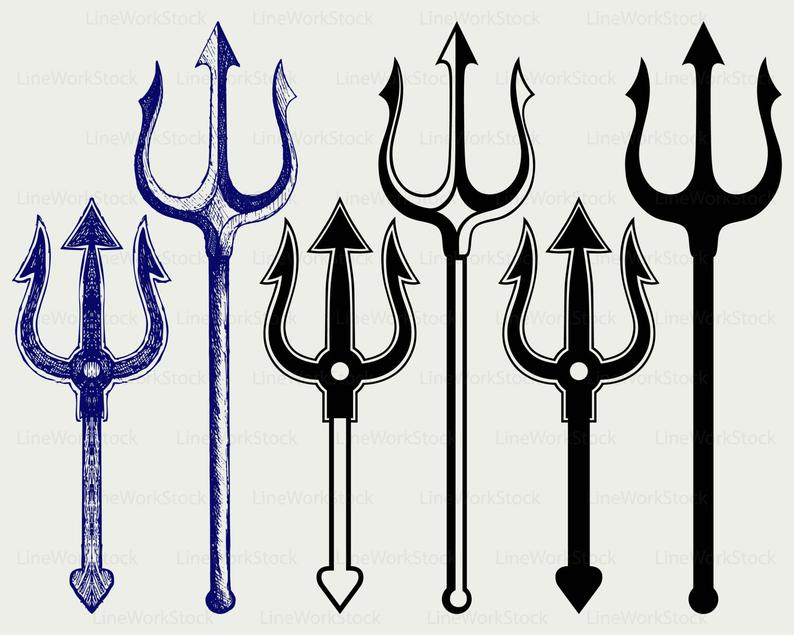 Trident clipart.