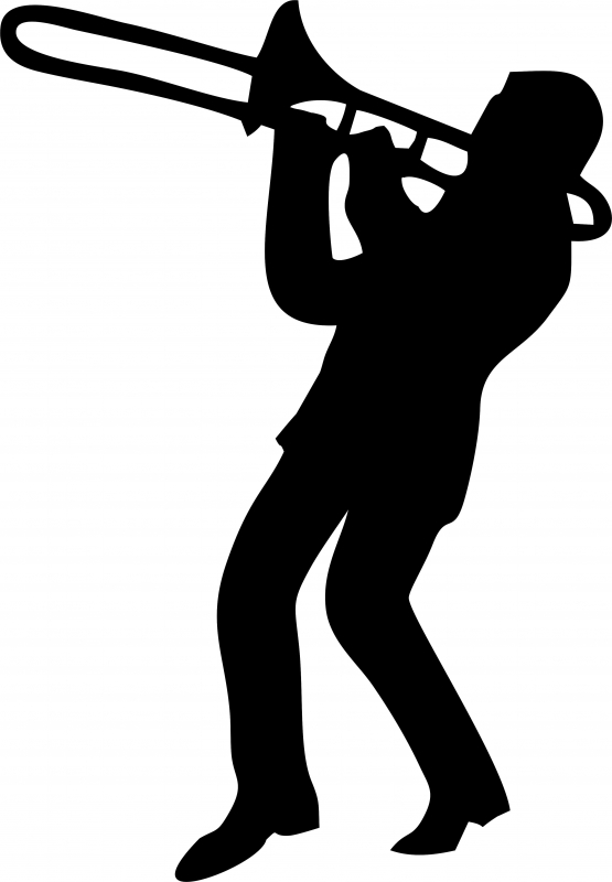 Trombone clipart player.
