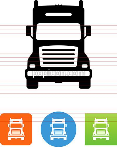 semi truck clipart front view
