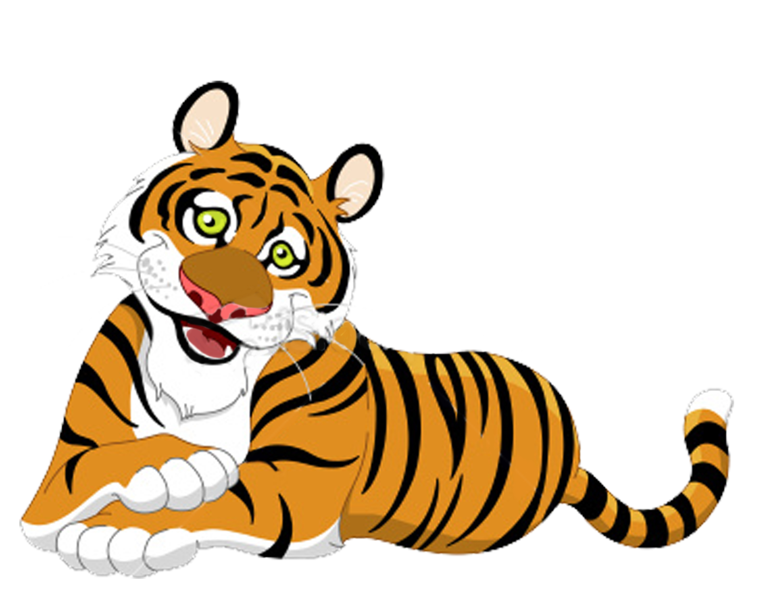 public domain clipart tiger