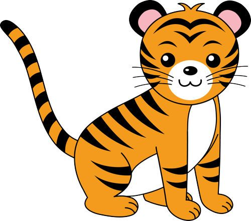 tiger clipart easy