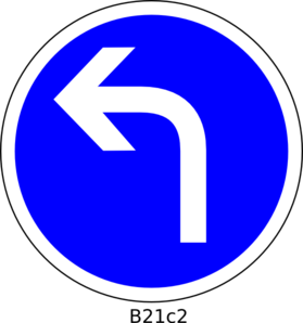 turn clipart left turn