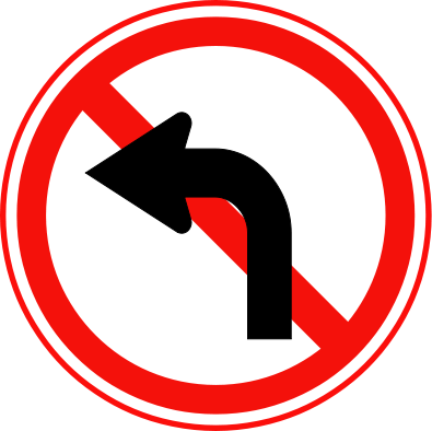 turn clipart turn left