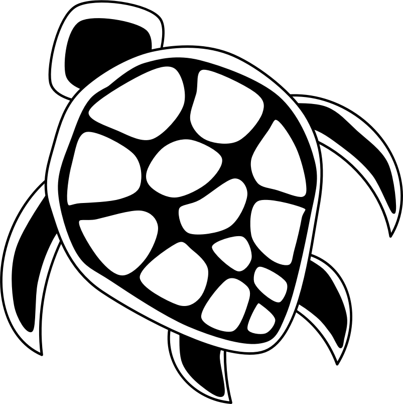Turtle clipart template.
