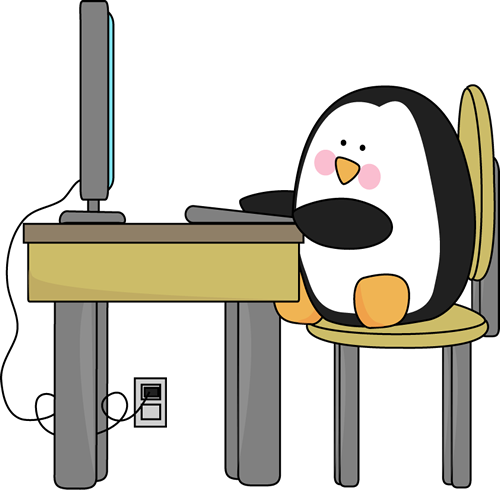 typing clipart computer centre