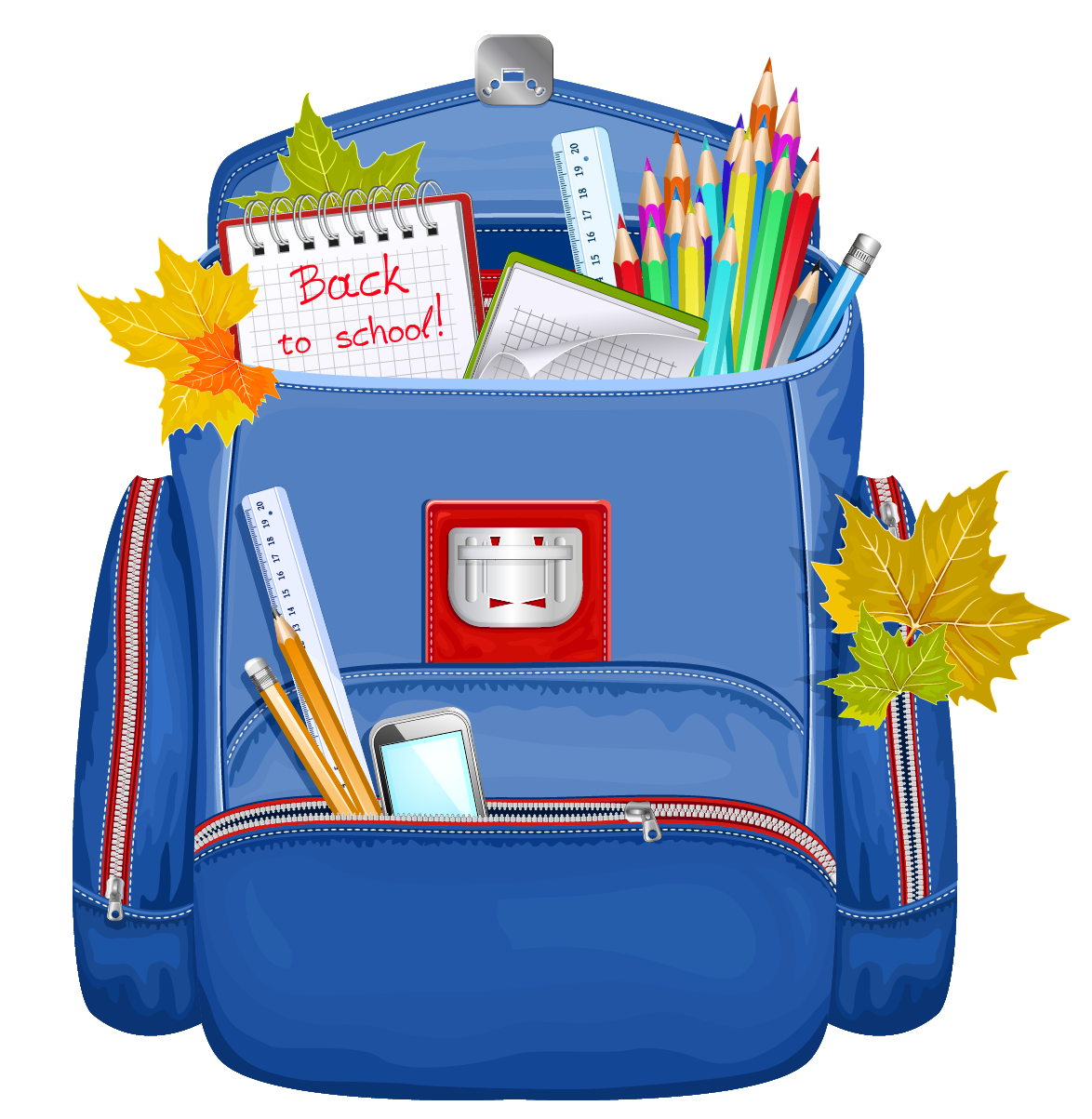 backpack clipart blue