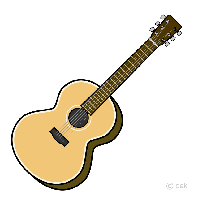 clipart guitar simple