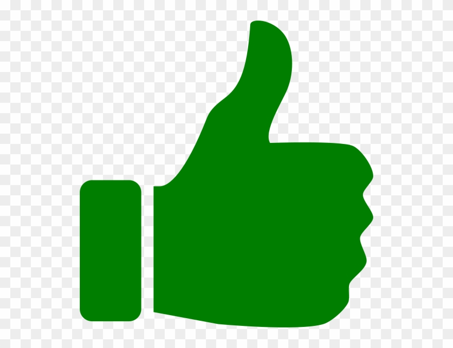 clipart thumbs up green