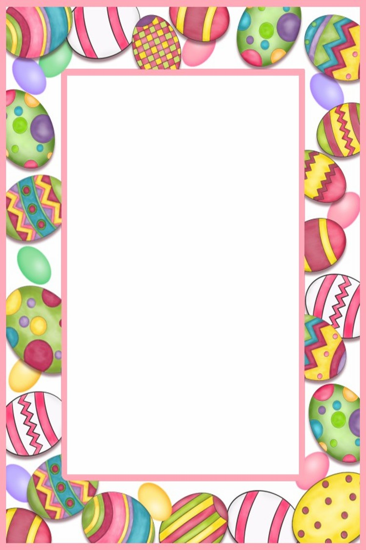 happy easter clipart border