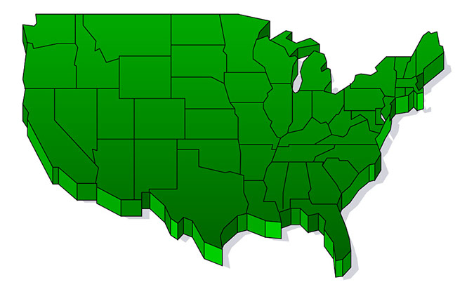 united states clipart green